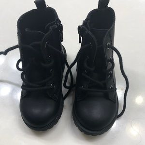 Toddler black combat boots